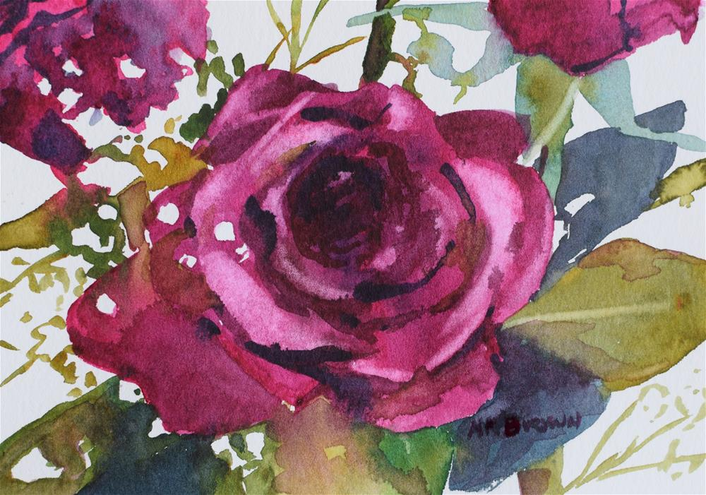 """Roses Are Red"" original fine art by Nancy Brown"