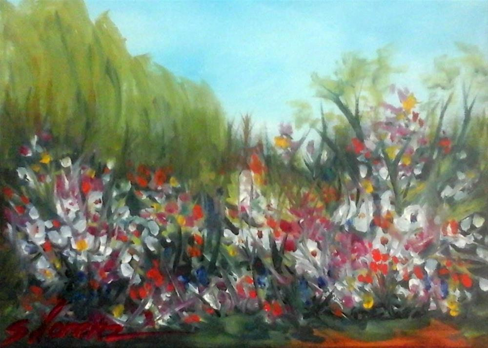 """Springtime Flowers"" original fine art by Sue Lorenz"