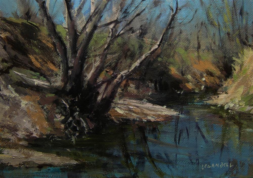 """Hidden in the Doyle Creek "" original fine art by Joseph Loganbill"
