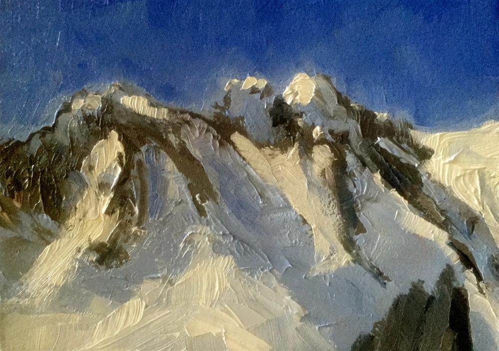 """""""Mont Blanc"""" original fine art by Gary Bruton"""