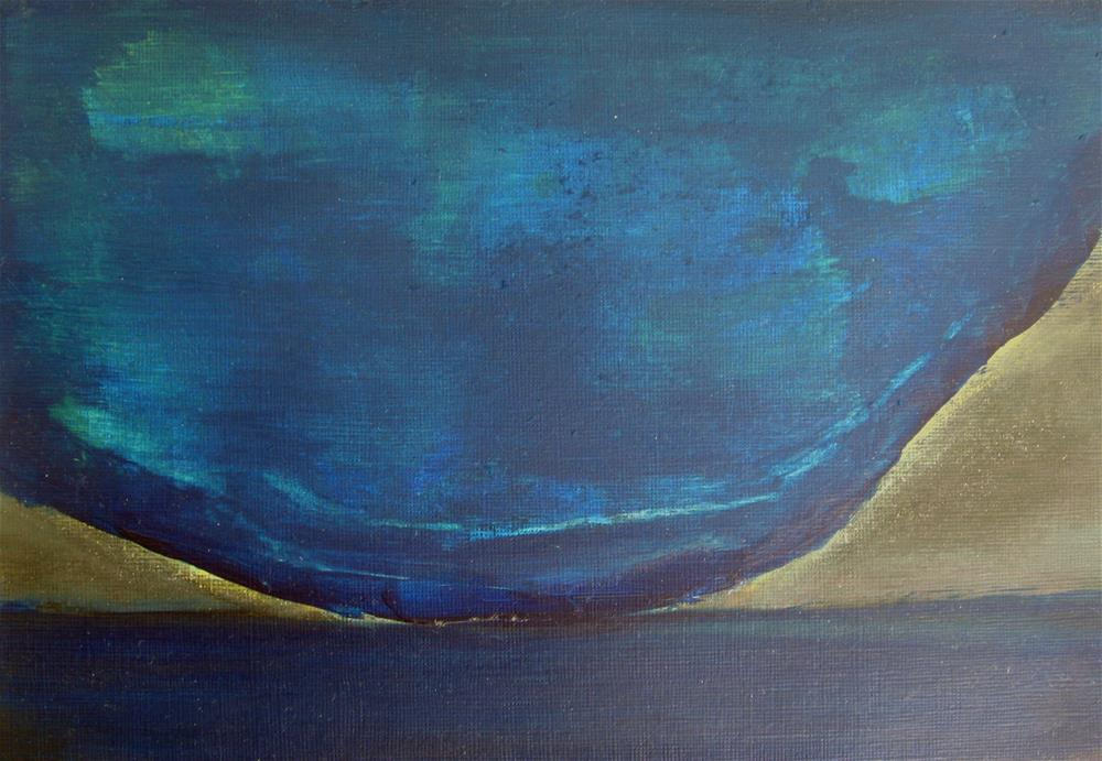 """Blue Night"" original fine art by Alina Frent"
