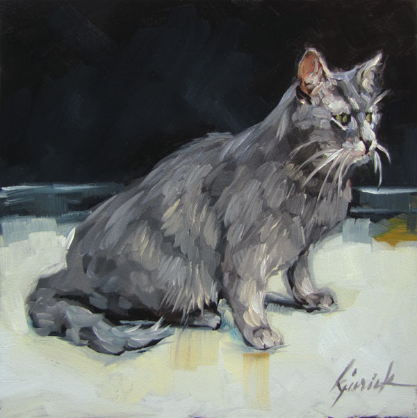 """Gatto"" original fine art by Karin Jurick"