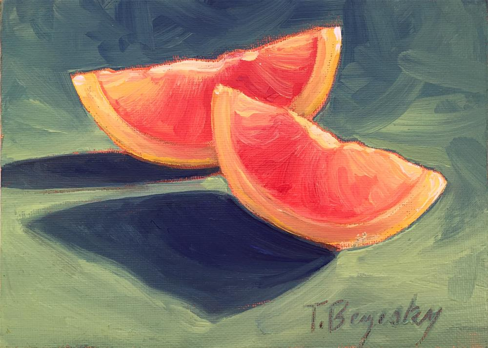 """Blood Orange"" original fine art by Tracy Bezesky"