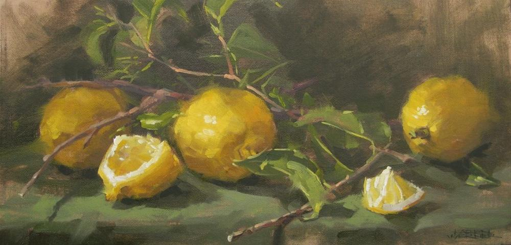 """Lemons & Twigs"" original fine art by Karen Werner"