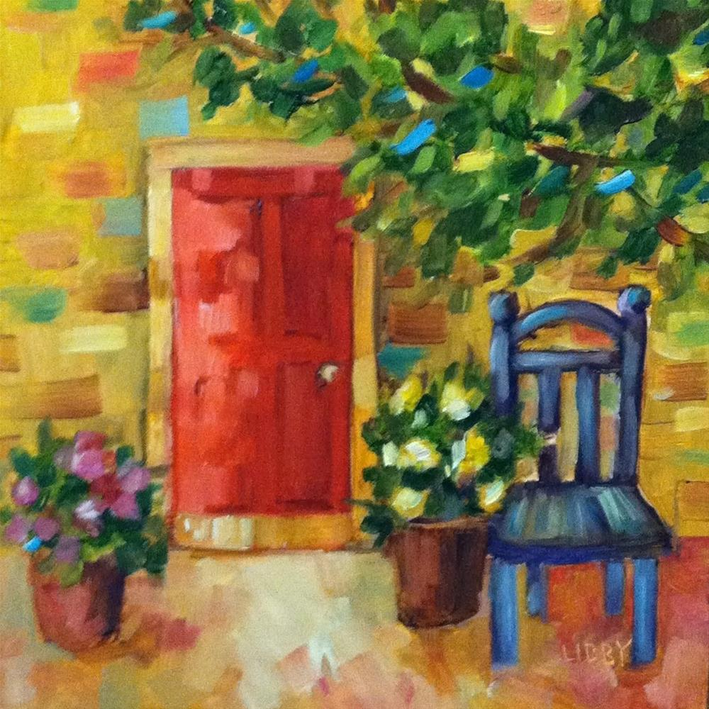 """Red Door"" original fine art by Libby Anderson"