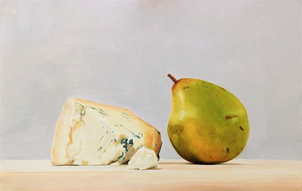 """Stilton and Pear"" original fine art by James Coates"