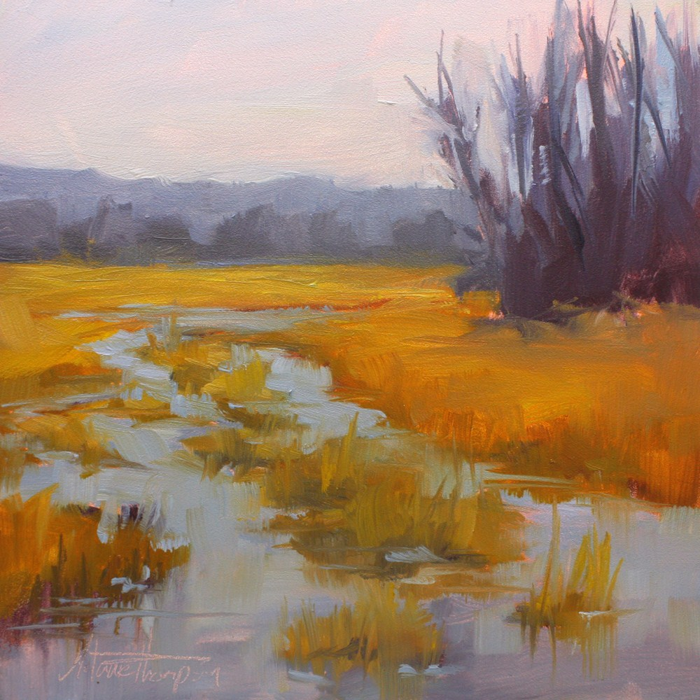 """Crab Creek Winter"" original fine art by Melanie Thompson"