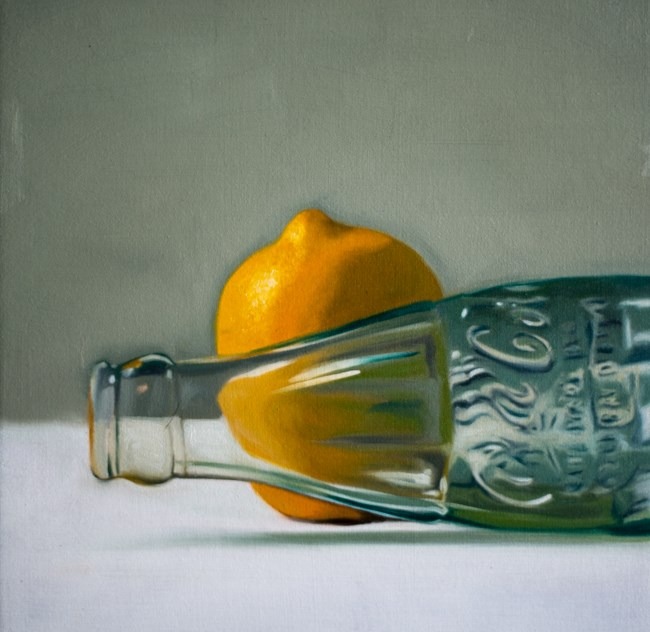 """Lemon Cola Bottle"" original fine art by Lauren Pretorius"