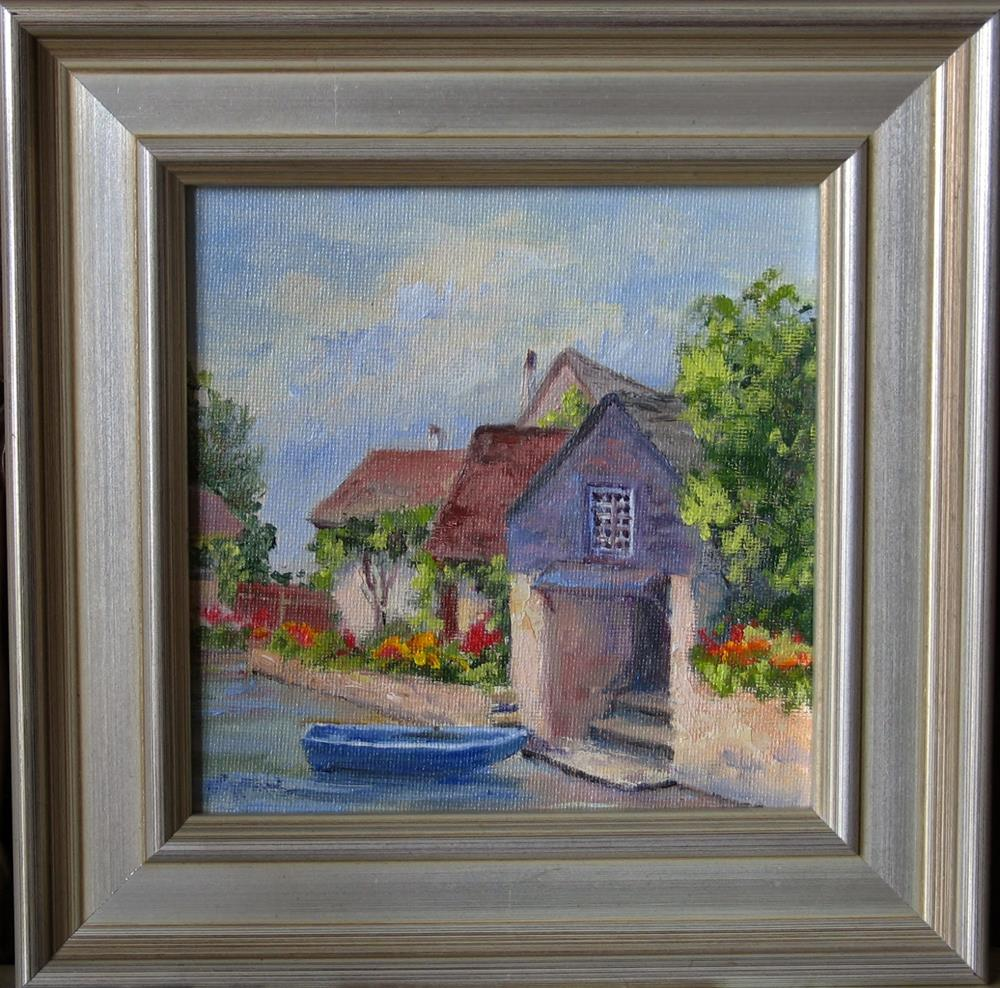 """French Boathouse ~ Framed"" original fine art by Vikki Bouffard"