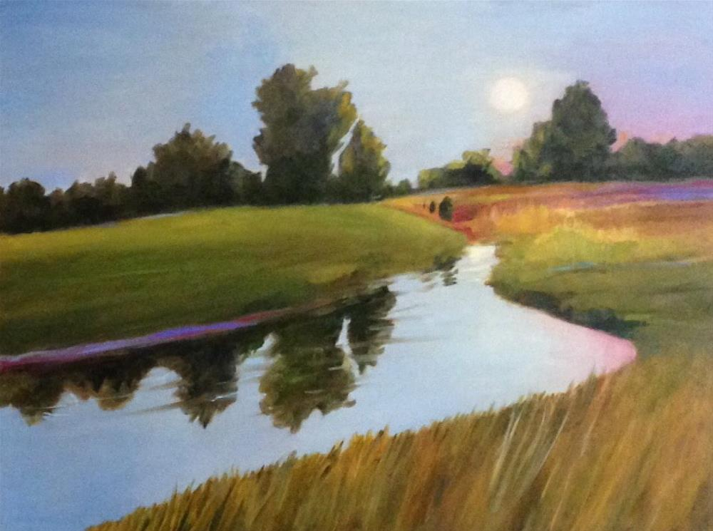 """""""Place of Peace"""" original fine art by Libby Anderson"""