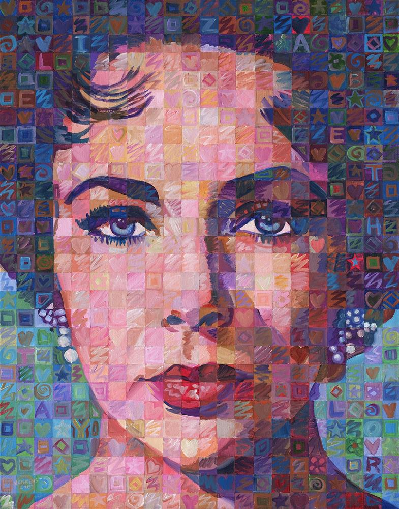 """Elizabeth Taylor #5"" original fine art by Randal Huiskens"