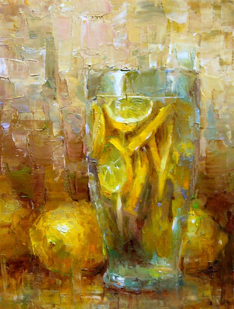 """Lemonade"" original fine art by Julie Ford Oliver"