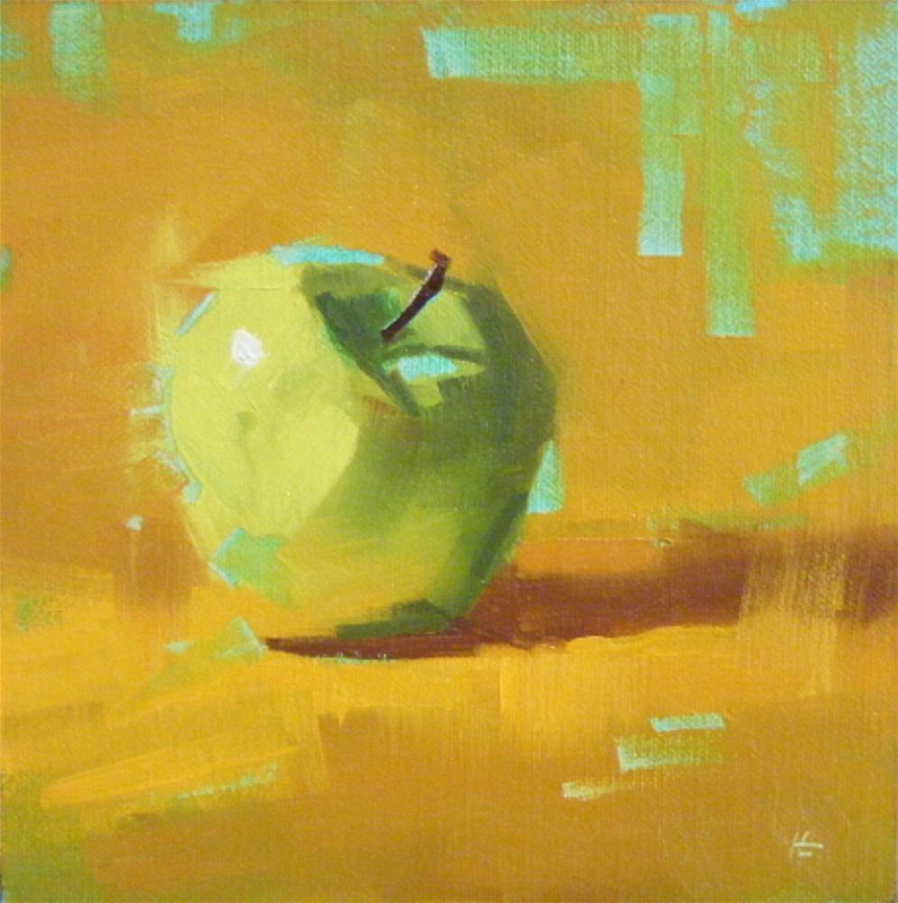 """""""APPLE GROOVE"""" original fine art by Helen Cooper"""