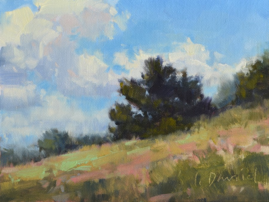 """Hillside Ridge - Tree Gesture 4"" original fine art by Laurel Daniel"
