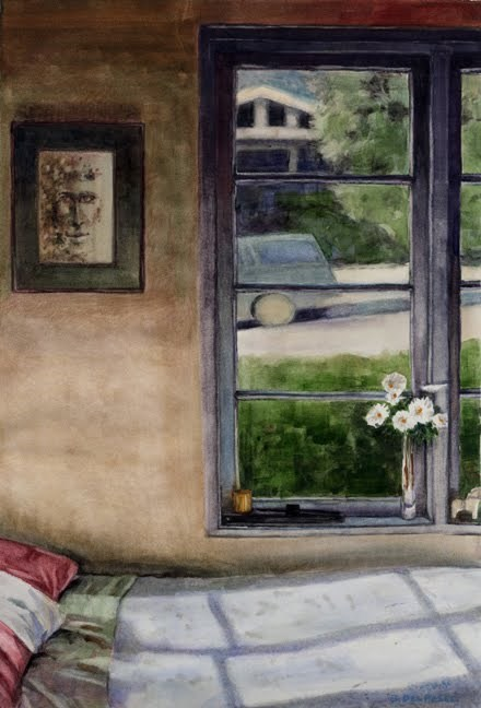 """Watercolor: Carpinteria Street (& last weekend's Studio City/Sherman Oaks Rotary Club Art Fair)"" original fine art by Belinda Del Pesco"
