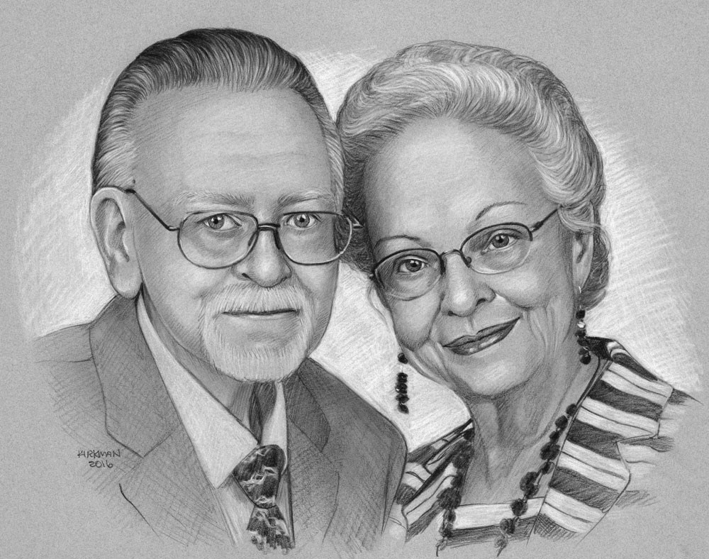 """Pencil Portrait Commissions (and new site in the works!)"" original fine art by Rita Kirkman"
