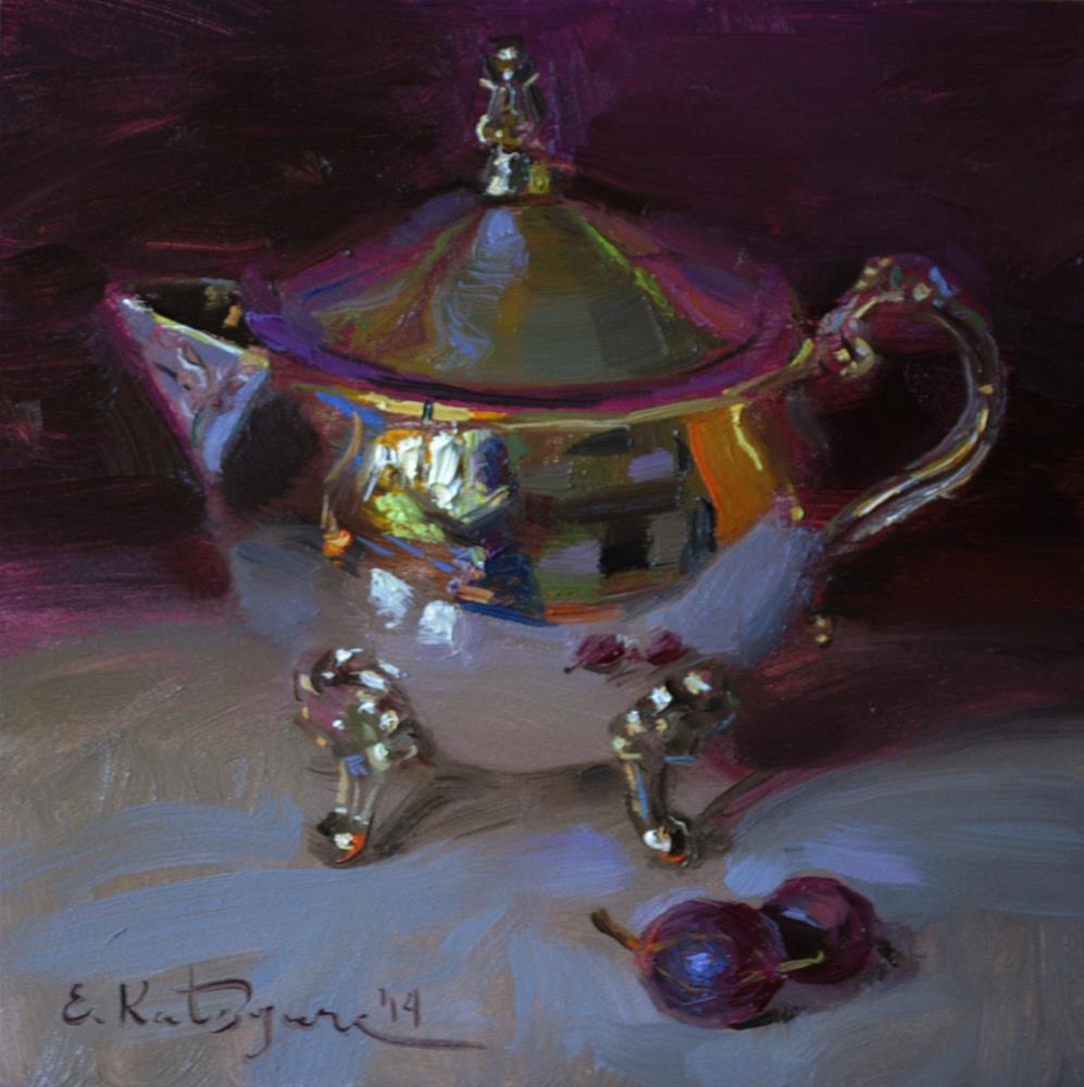 """Silver and Gooseberries"" original fine art by Elena Katsyura"
