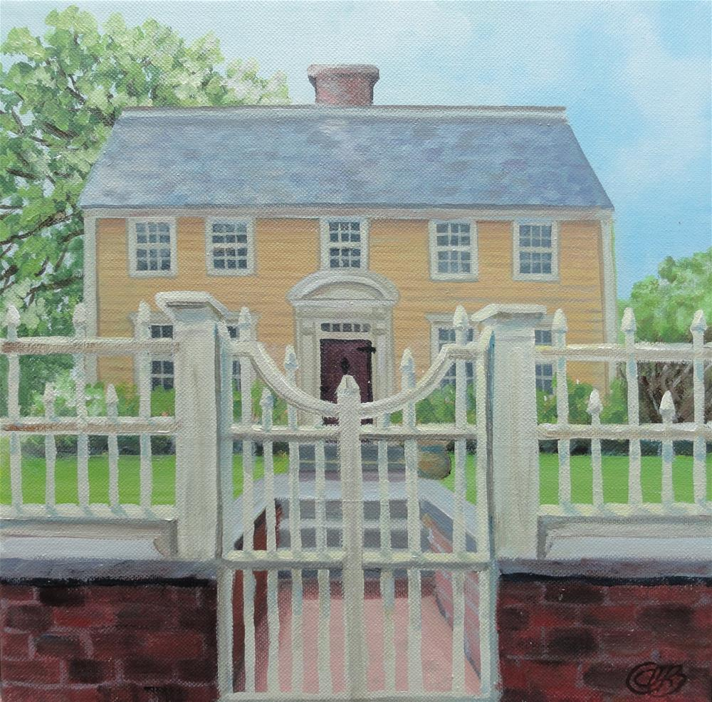 """Oracle House, Portsmouth, NH"" original fine art by Christine Blain"