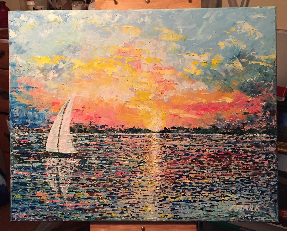 """Sailing"" original fine art by Elizabeth Ann Stark"