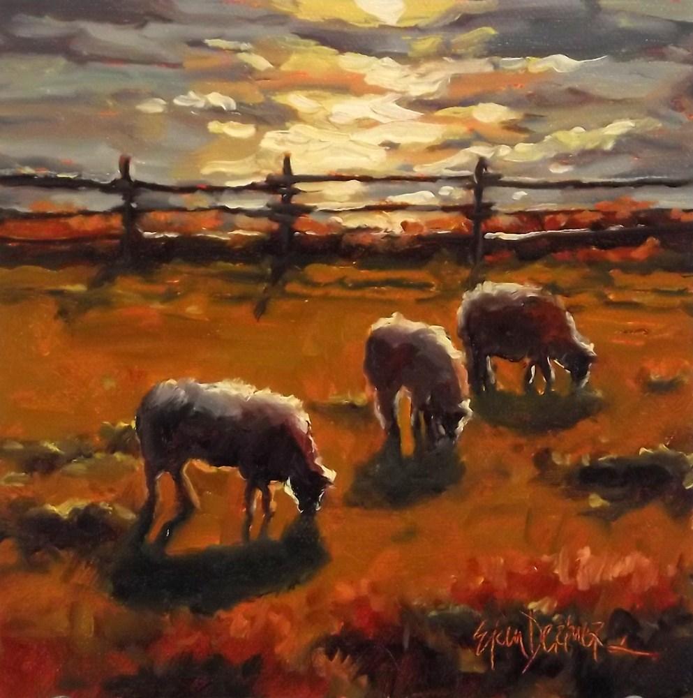 """Sunset Snacking"" original fine art by Erin Dertner"