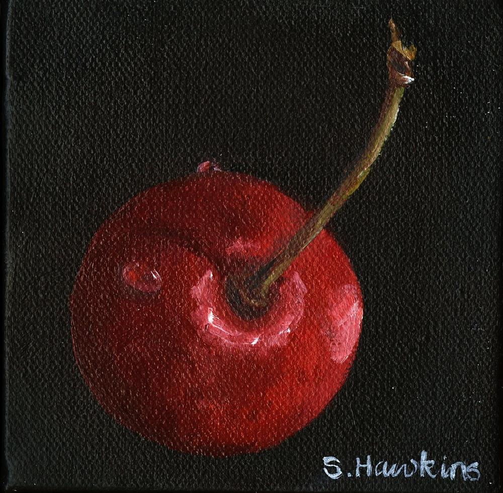 """Cherry Cherry"" original fine art by Sheryl Heatherly Hawkins"