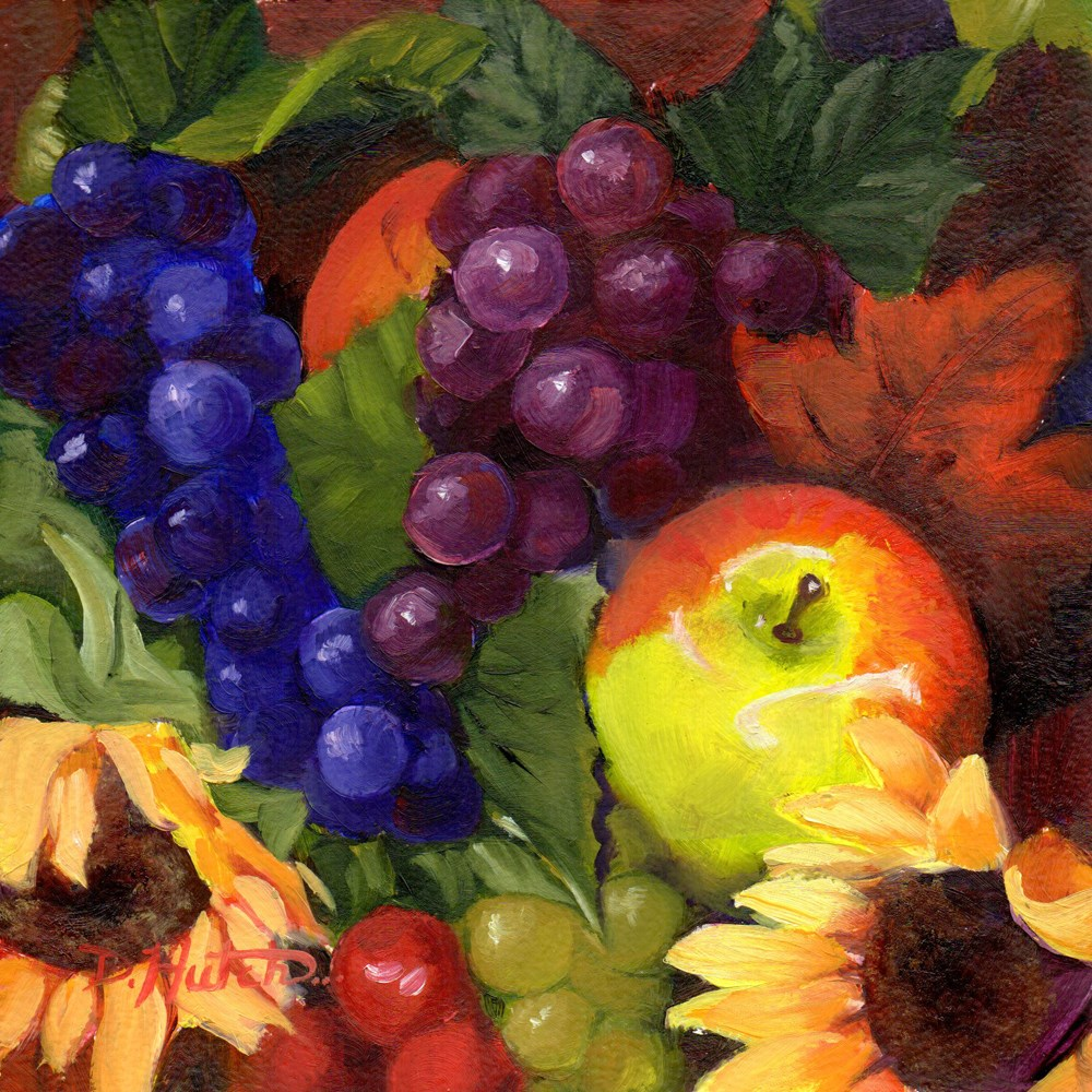 """Flowers and Fruit #1"" original fine art by Diane Hutchinson"
