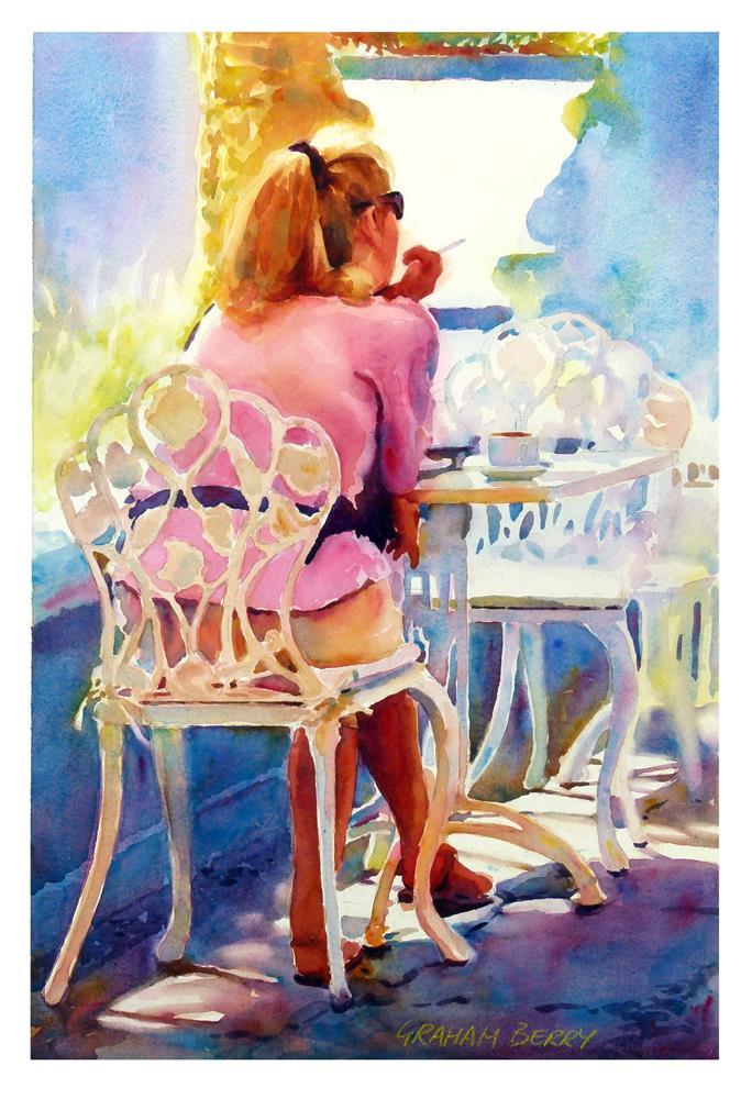 """""""Cafe solo."""" original fine art by Graham Berry"""