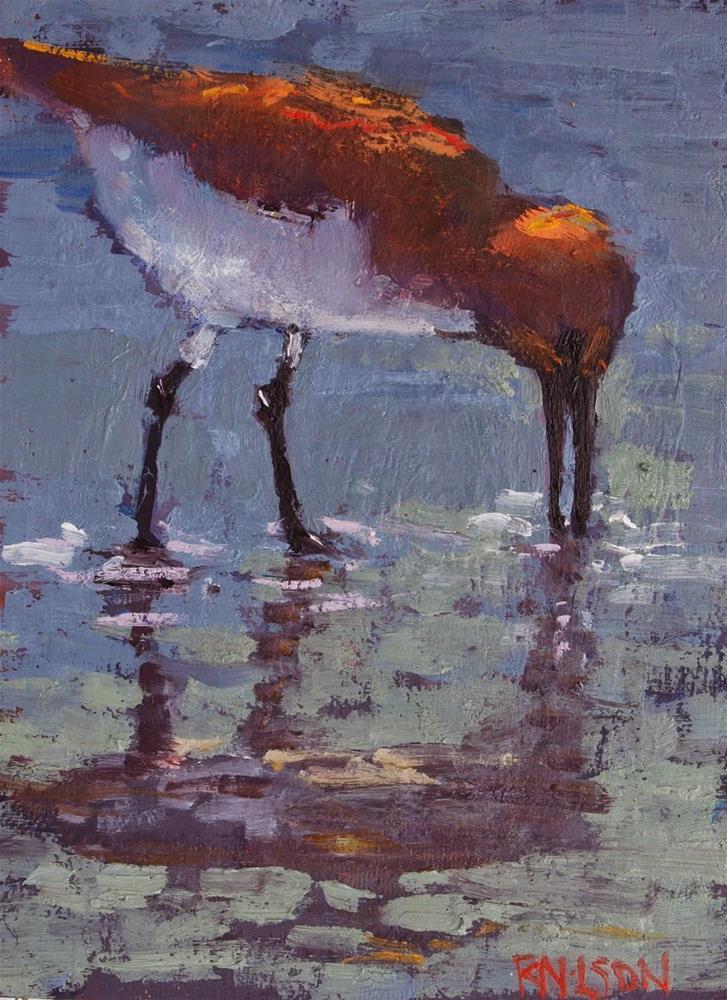 """Shore bird"" original fine art by Rick Nilson"