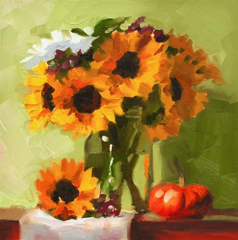 """No. 655 Birthday Flowers"" original fine art by Susan McManamen"