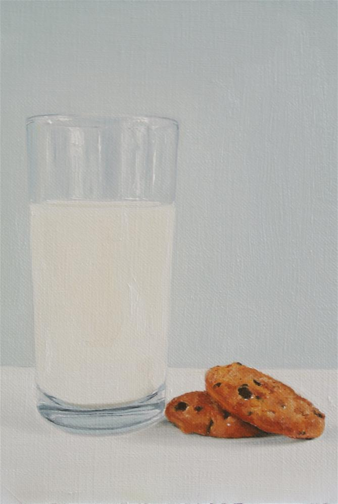 """Milk and Cookies"" original fine art by James Coates"