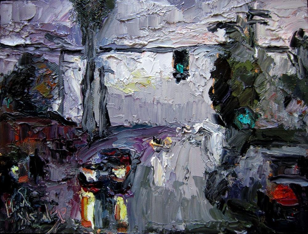 """Palms in the Rain"" original fine art by Carol Steinberg"