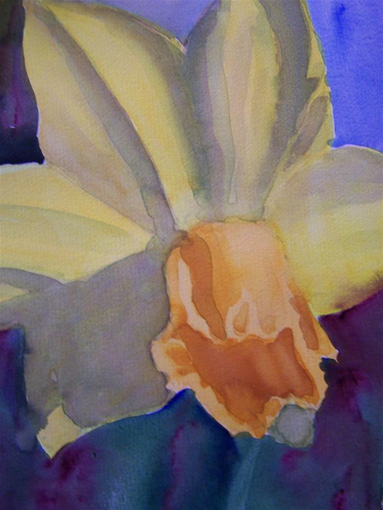 """Daffodil"" original fine art by Joan Reive"