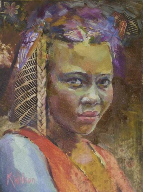 """""""Chameleon"""" original fine art by Katie Wilson"""