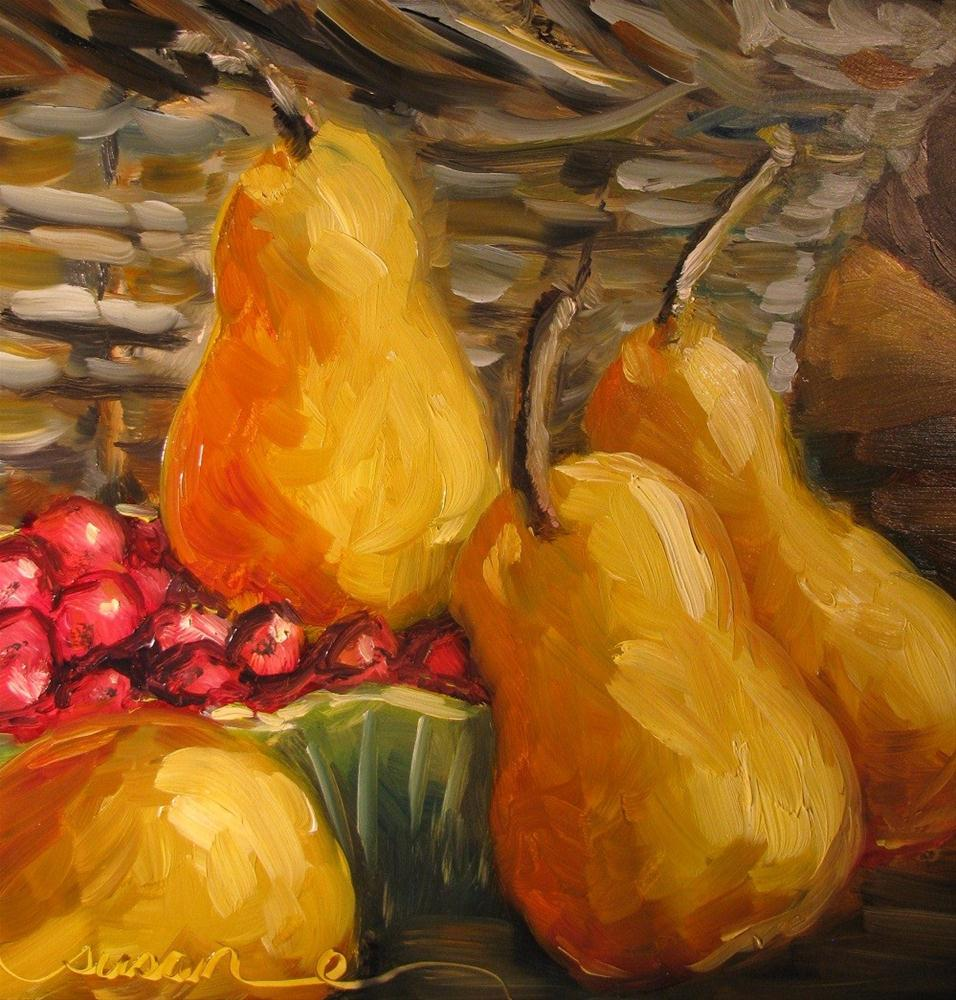 """November Pears"" original fine art by Susan Elizabeth Jones"