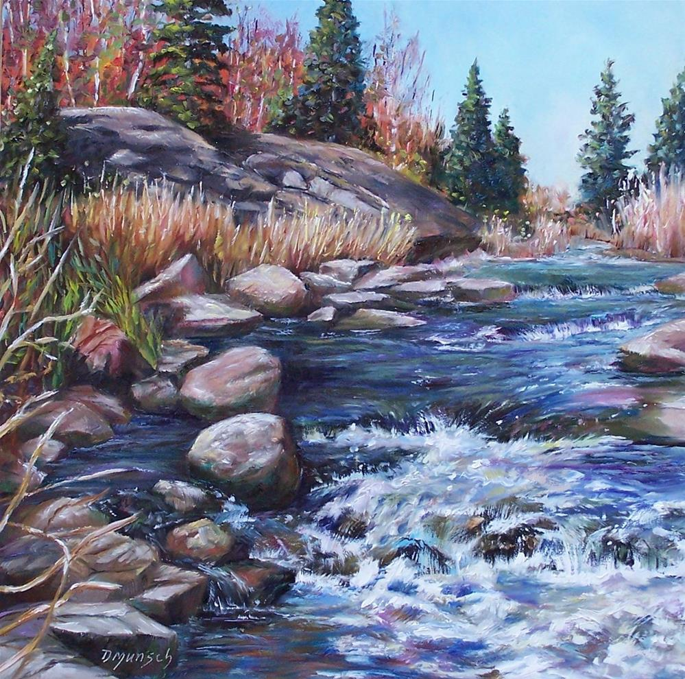 """Rambling River"" original fine art by Donna Munsch"