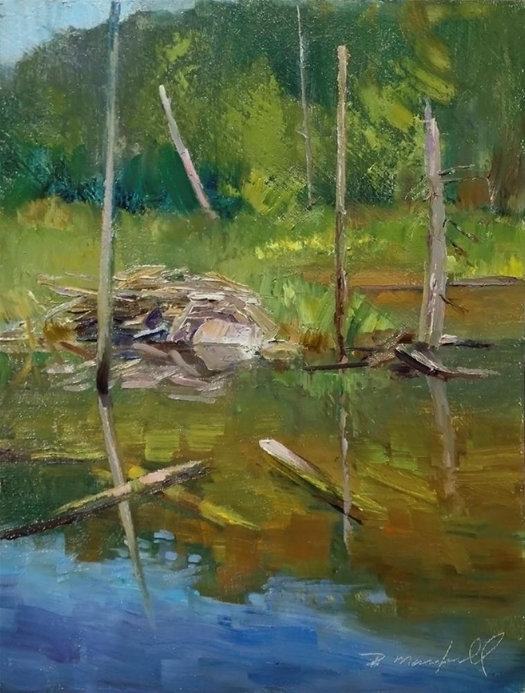 """The Old Beaver Hut"" original fine art by Denise Maxwell"