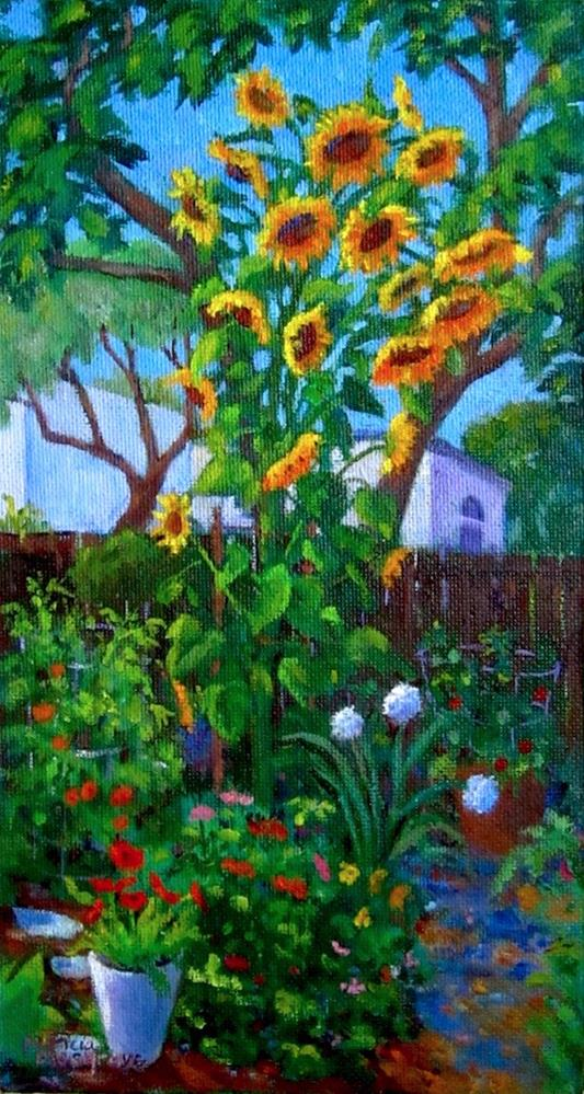 """Sunflower Tower"" original fine art by Patricia Musgrave"