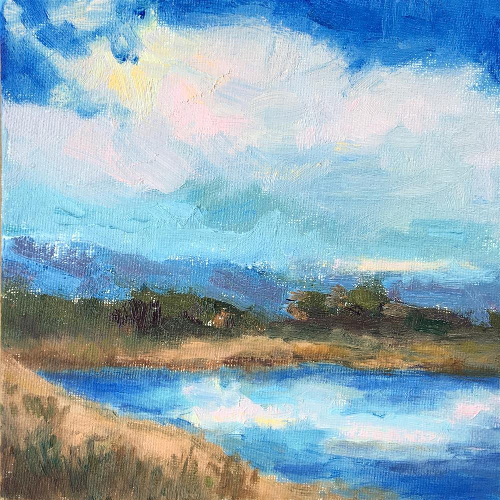 """Sky, Land, Water"" original fine art by Victoria  Biedron"