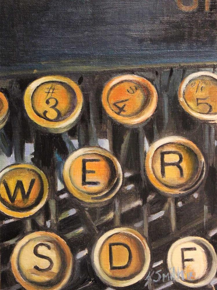 """typewriter keys"" original fine art by Kim Smith"