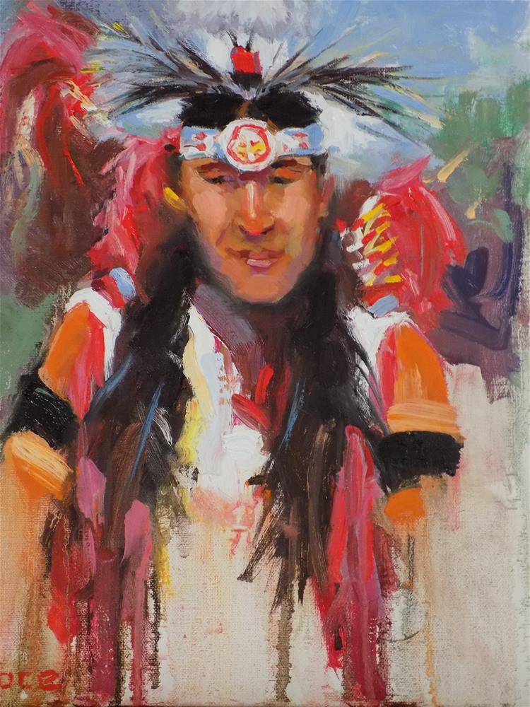 """At The Pow Wow"" original fine art by Rita Brace"