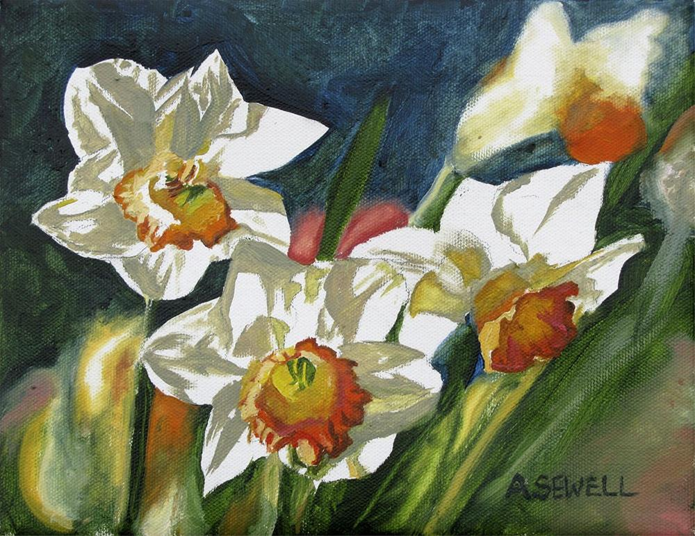 """N is for Narcissus"" original fine art by Andy Sewell"