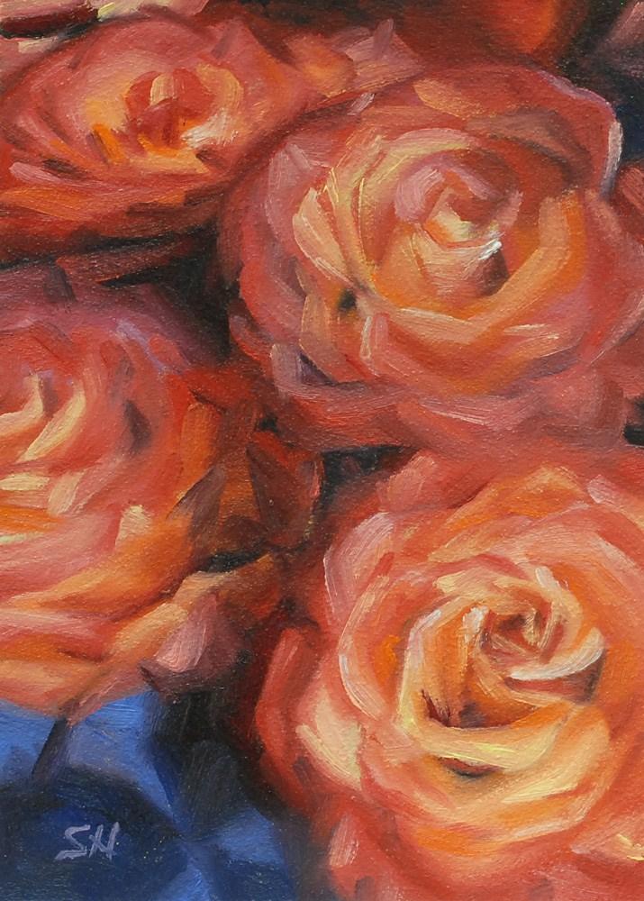 Who Loves Roses? original fine art by Shinhuey Ho