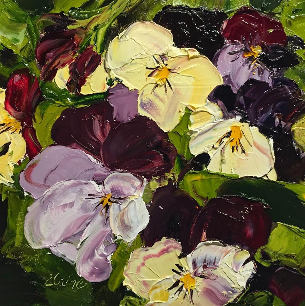 """Pretty in Purple"" original fine art by Elaine Ford"