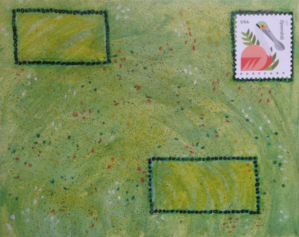 """""""Postcard 7"""" original fine art by Dotty  Seiter"""