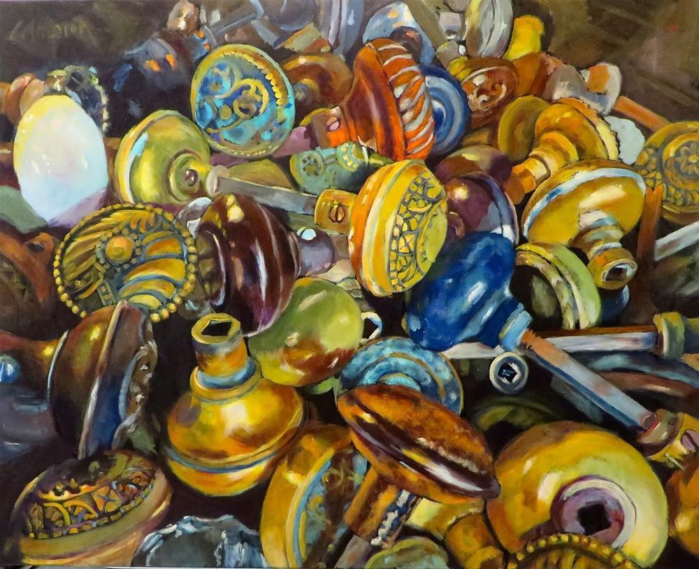 """Hob Nobbing"" original fine art by Diane Campion"