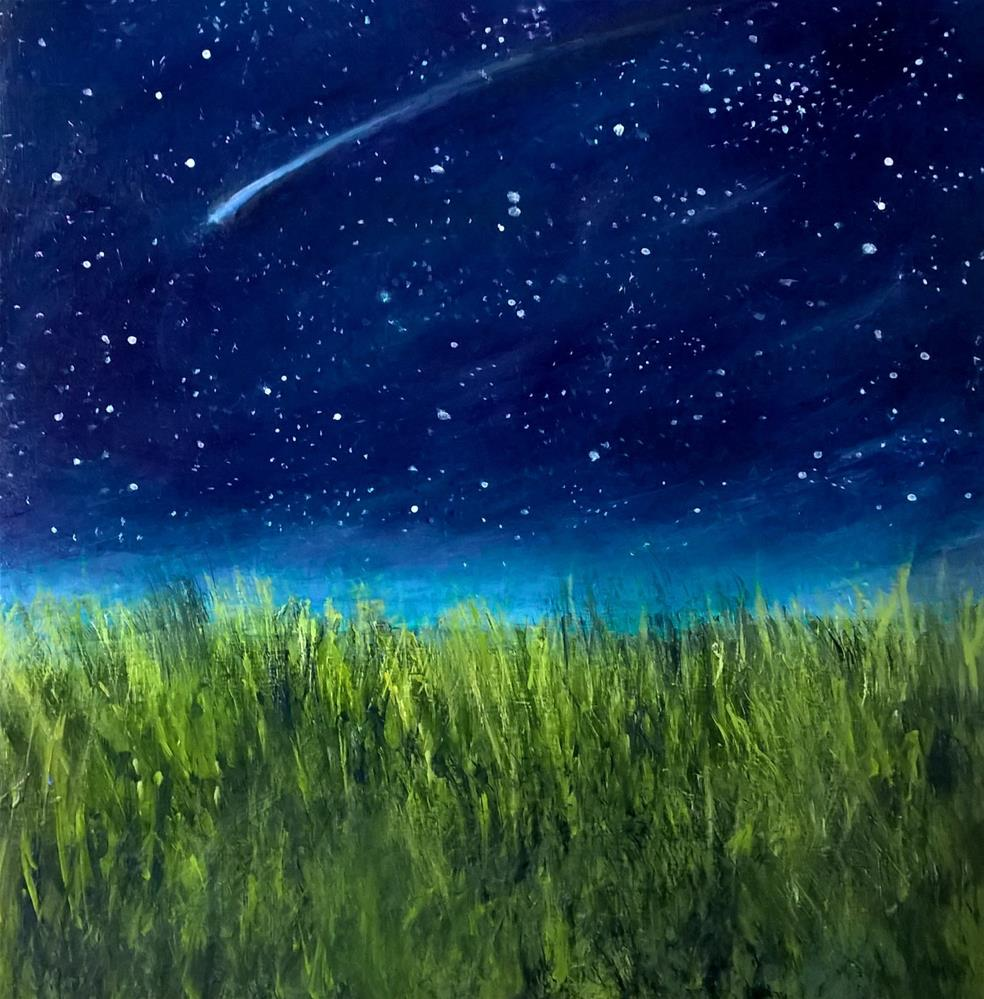 """Stars over a Field"" original fine art by Joan Matero"