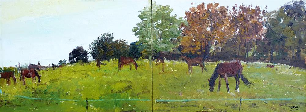 """Horsefields Alxander Park"" original fine art by Adebanji Alade"
