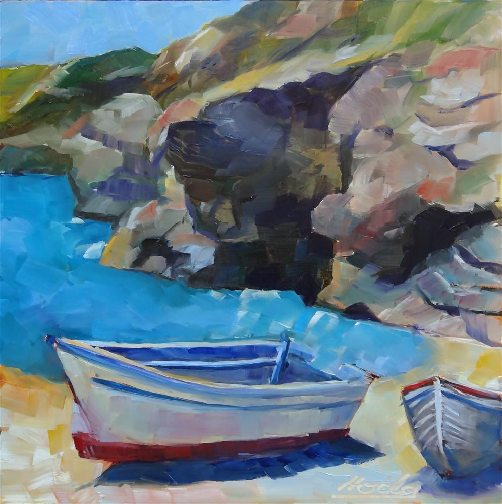 """Boats"" original fine art by Hoda Nicholas"
