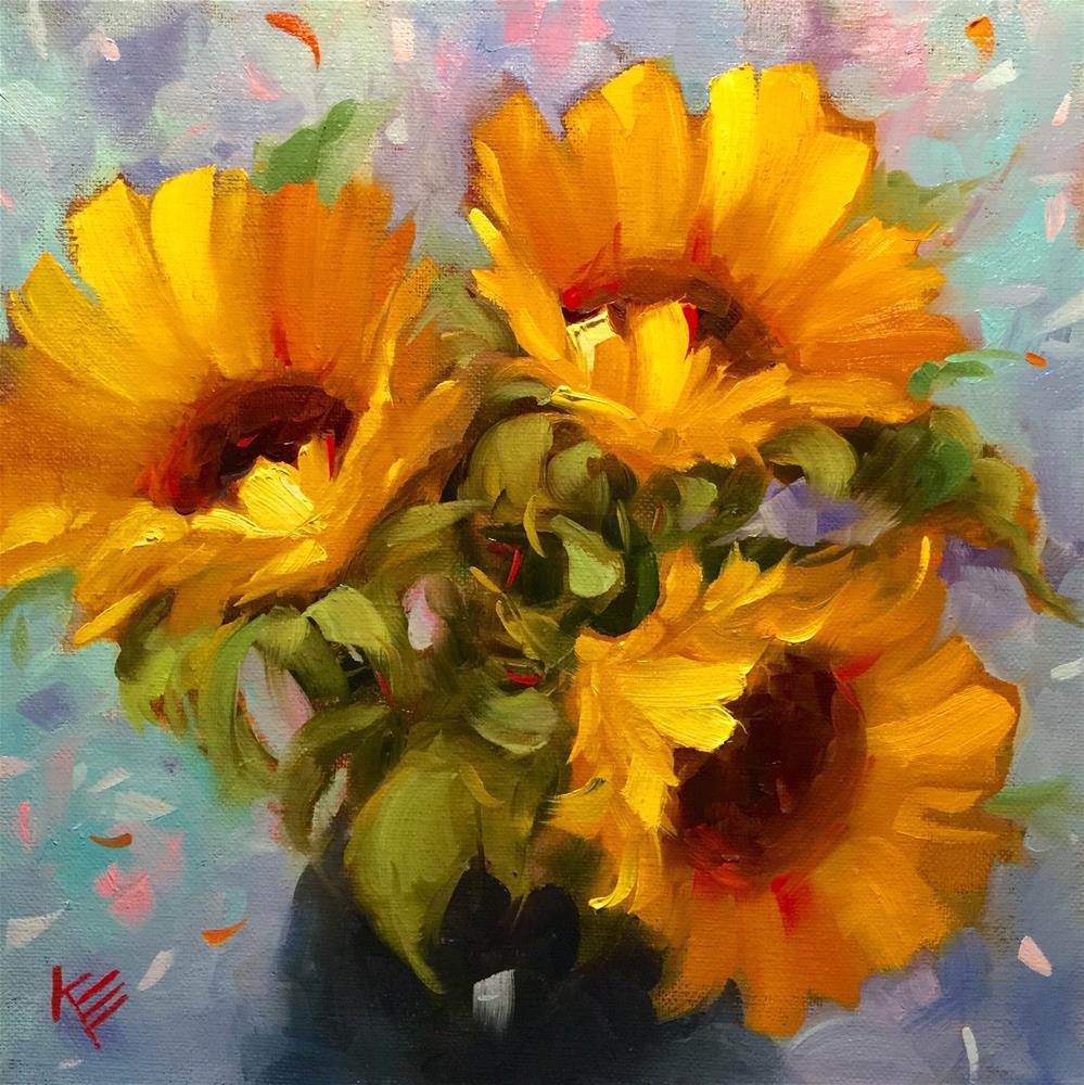 """Sunflower Joy"" original fine art by Krista Eaton"