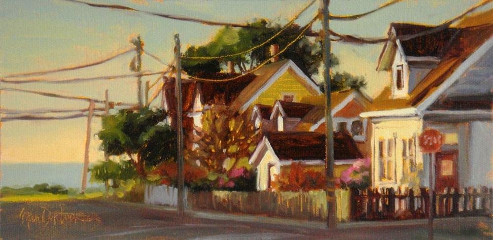"""West Side of Town"" original fine art by Erin Dertner"